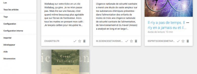 Wallabag : la solution libre pour une lecture en différée du web