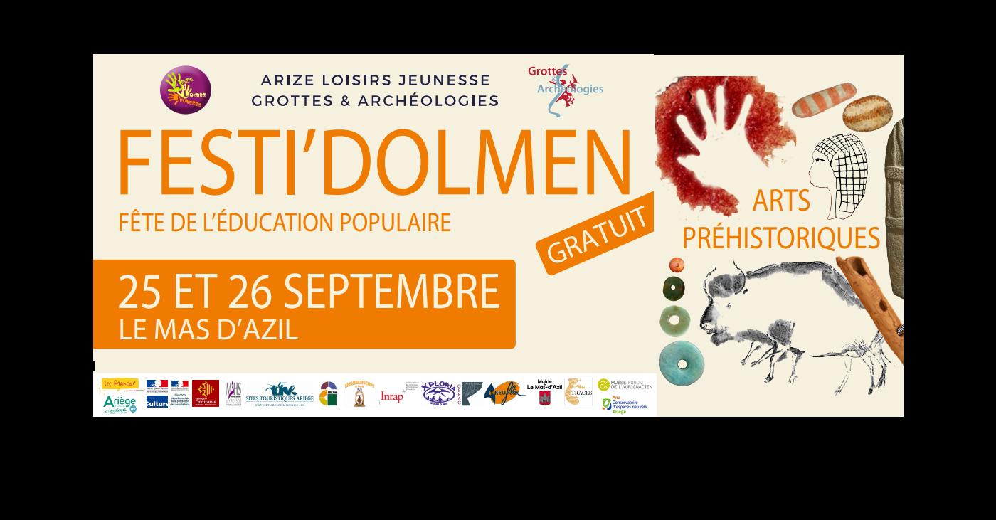 Festi'Dolmen 2020 : les 25 et 26 septembre au Mas-d'Azil