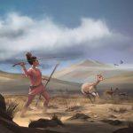 Chasseuse à la préhistoire